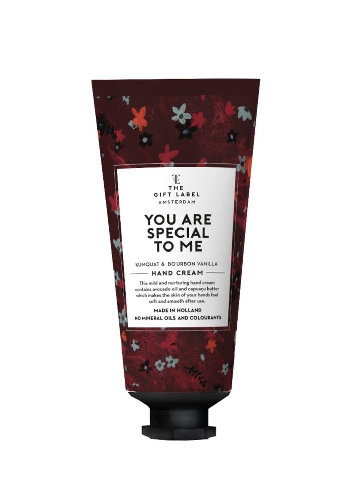 Gift Label - Hand cream tube You are special to me