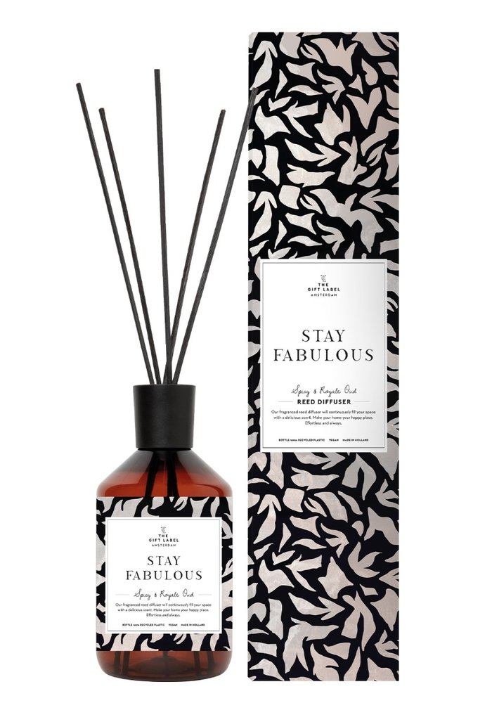Gift Label - Reed Diffuser Spicy and Royal Oud -Stay Fabulouos
