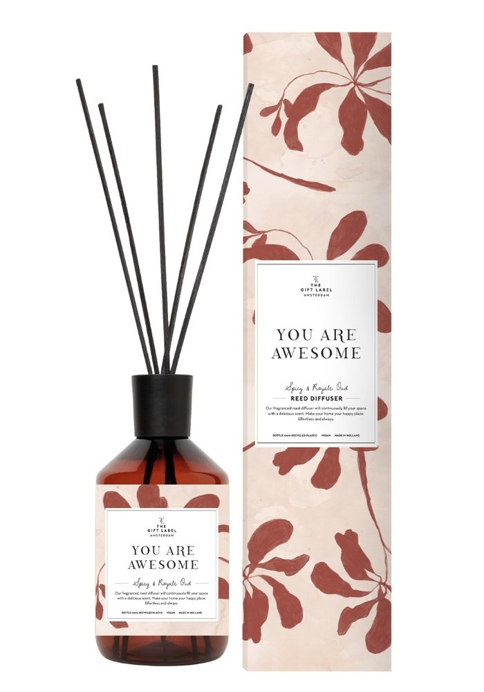 Gift Label - Reed Diffuser Spicy and Royal Oud -You are awesome