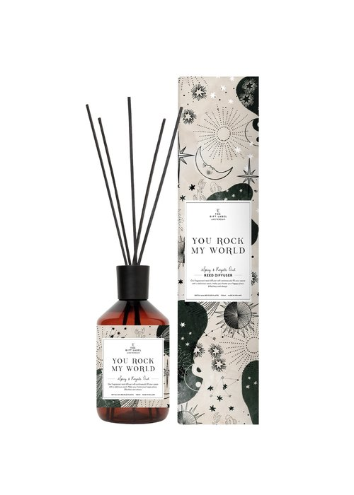 Gift Label - Reed Diffuser Spicy and Royal Oud -You Rock My World