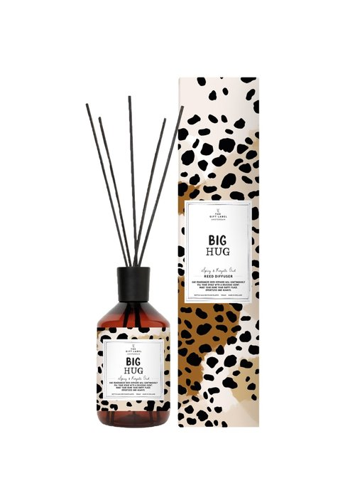 Gift Label - Reed Diffuser Spicy and Royal Oud - Big Hug
