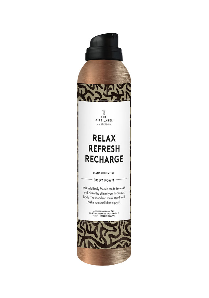 Gift Label - Body Foam Relax Refresh Recharge