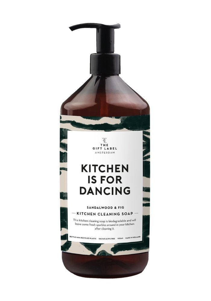 Gift Label - Kitchen Cleaning Soap Kitchen is  for dancing