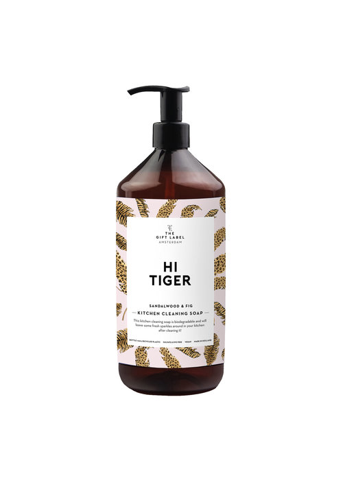 Gift Label - Kitchen Cleaning Soap Hi Tiger
