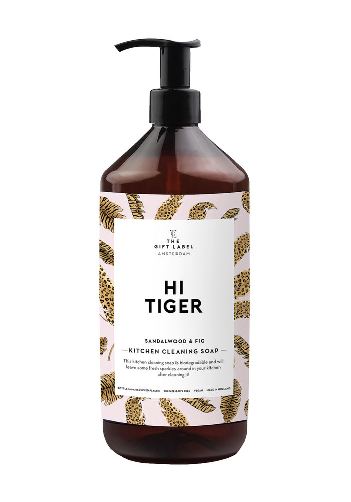 Gift Label - Kitchen Cleaning Soap Hi Tiger