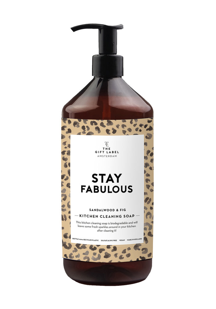 Gift Label - Kitchen Cleaning Soap Stay Fabulous