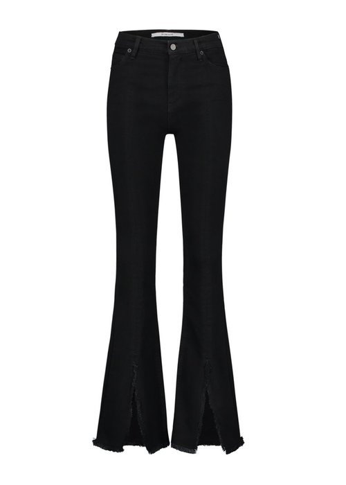 Homage Homage - Flared Jeans With Frayed Slits Blac