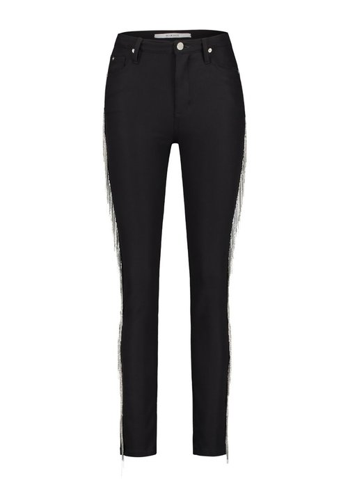 Homage Homage - Clean Skinny Jeans With Metallic Fringe Black