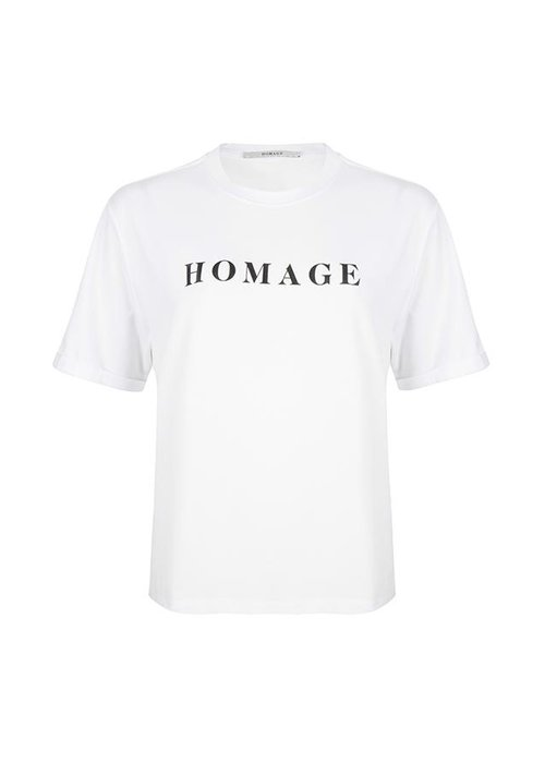 Homage Homage - Straight fit logo tee white