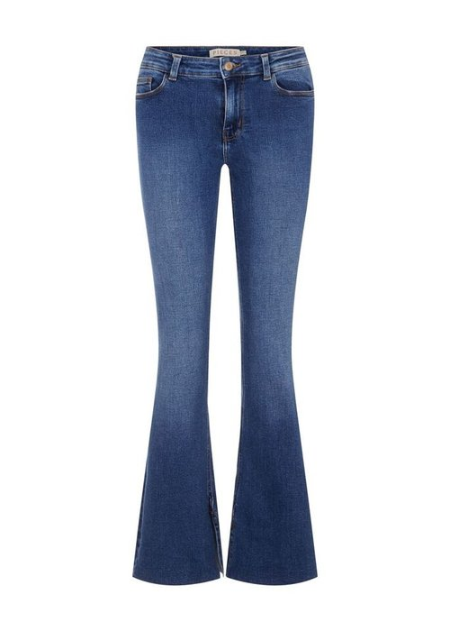 Pieces - Pckamelia Flared Mw Slit Jns Medium Blue Denim