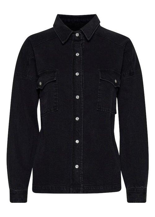 Ichi - Iholina Jacket Washed Black