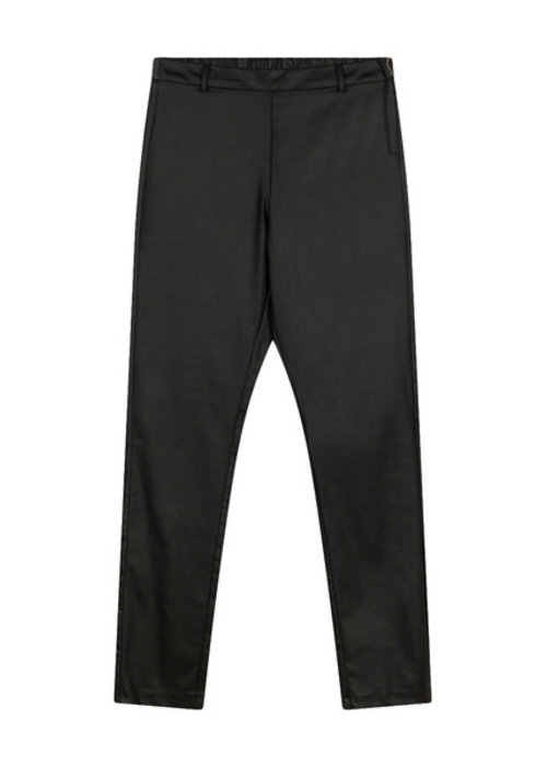 Alix Alix - Ladies Woven Fitted Coated Pants Black