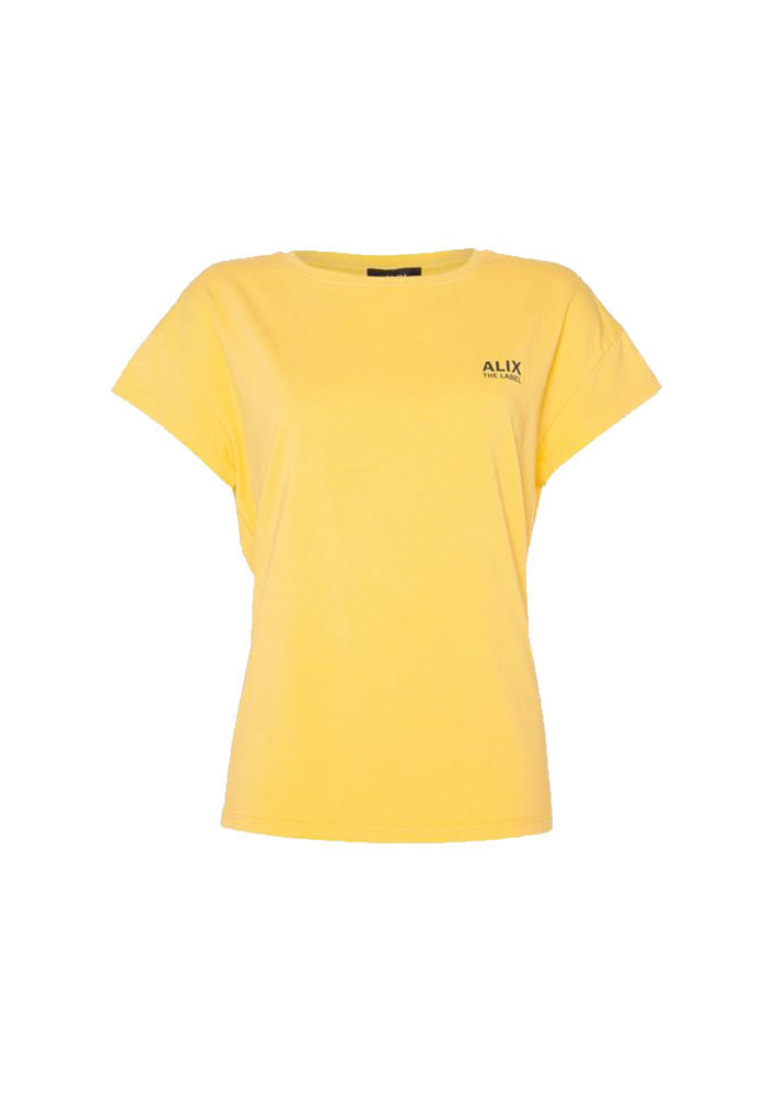 Alix - Ladies Knitted On Tour T-shirt Honey Yellow