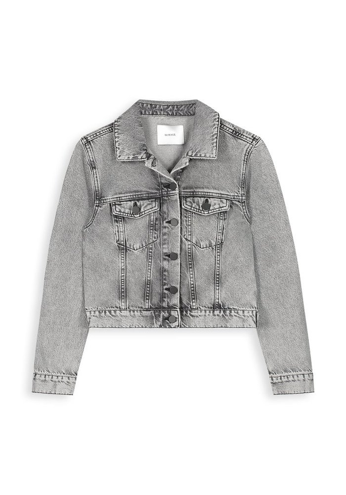 Homage - Denim Jacket Acid Light Grey