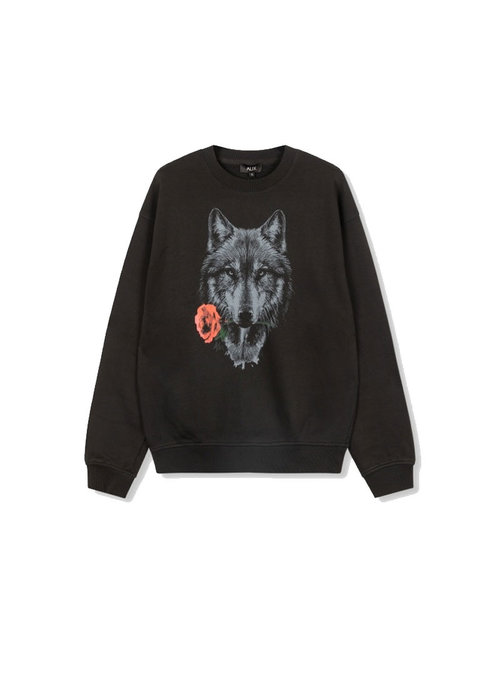 Alix Alix - Ladies knitted wolves sweater Black