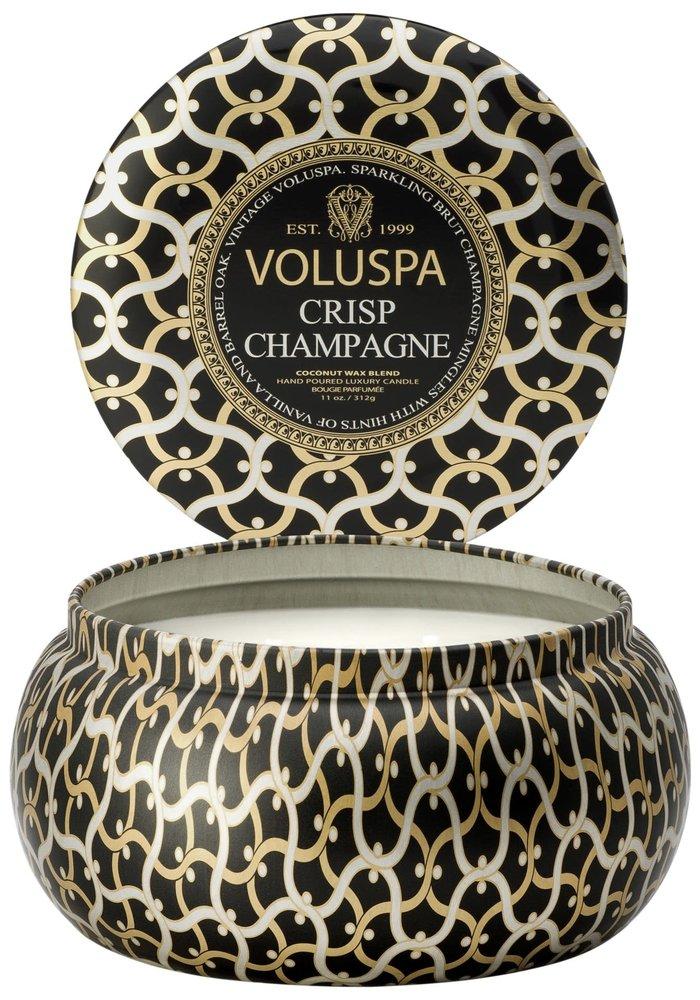 Voluspa - 2 wick Maison Metallo Candle Crisp Champagne
