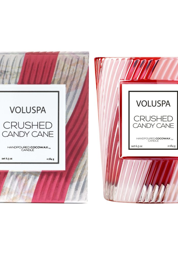 Voluspa - Crushed Candy Cane Classic Candle