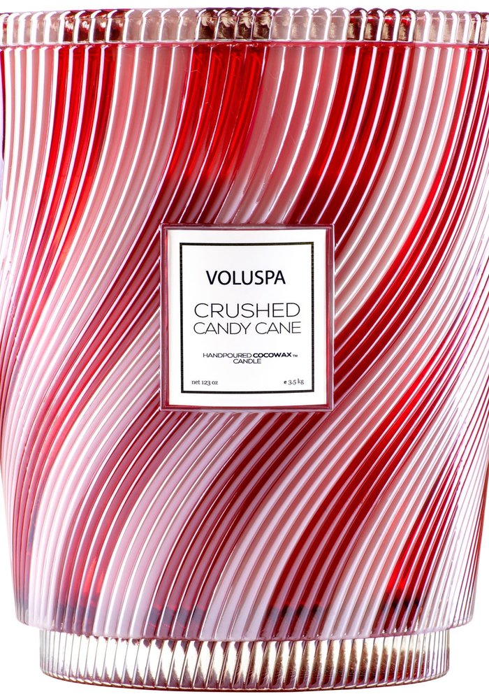 Voluspa - Crushed Candy Cane Heart Candle