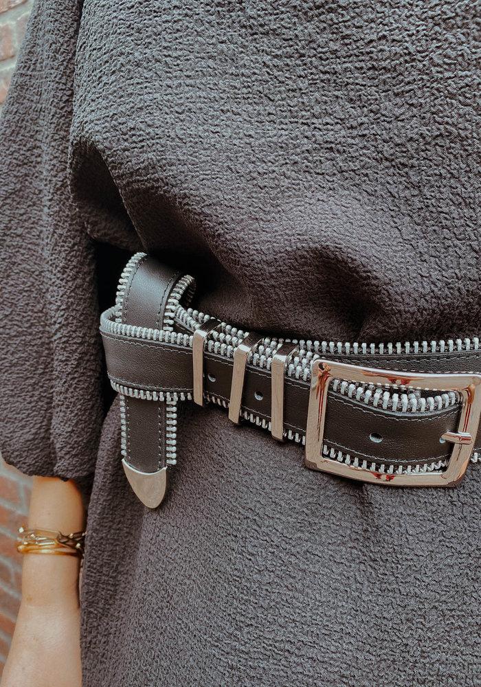 Elvy Zipper Belt Women