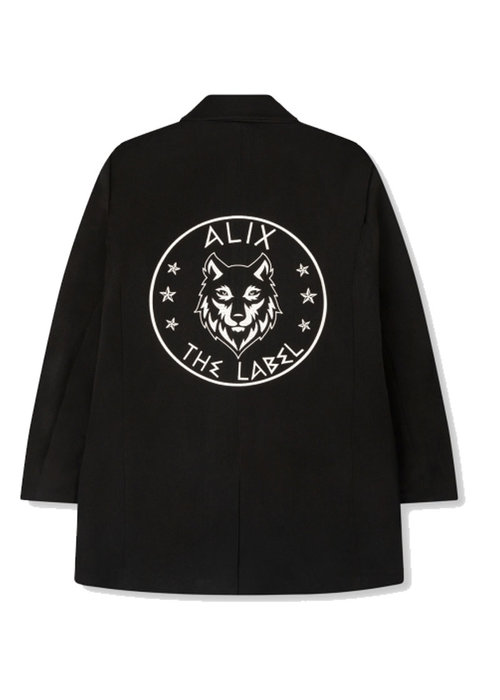 Alix Alix - ladies woven wolves blazer Black