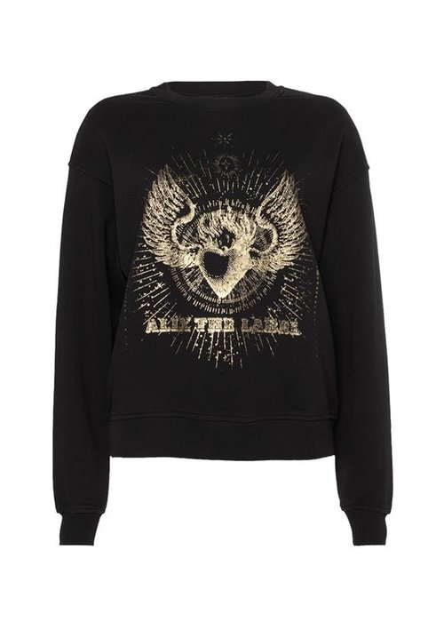 Alix Alix - ladies knitted foiled sweater Black