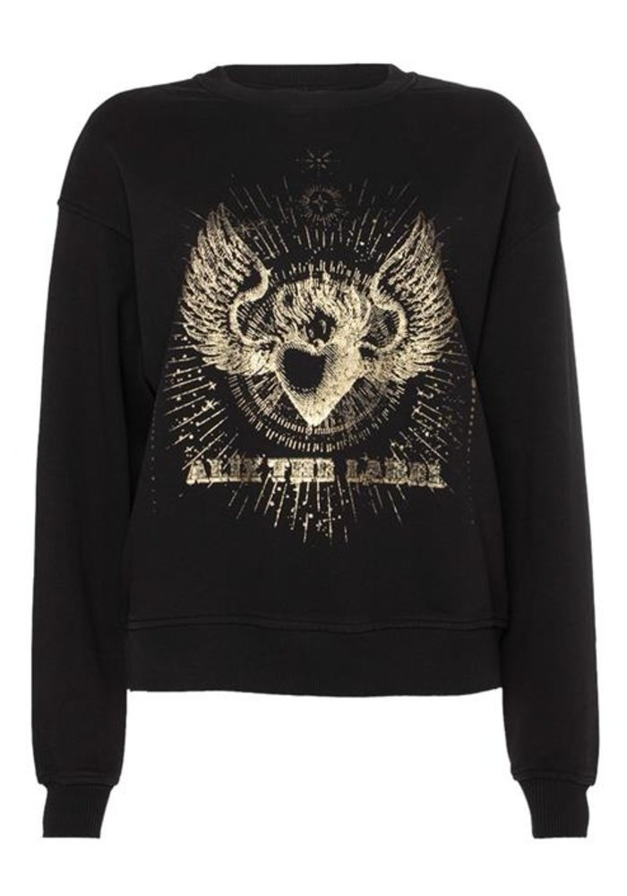 Alix - ladies knitted foiled sweater Black