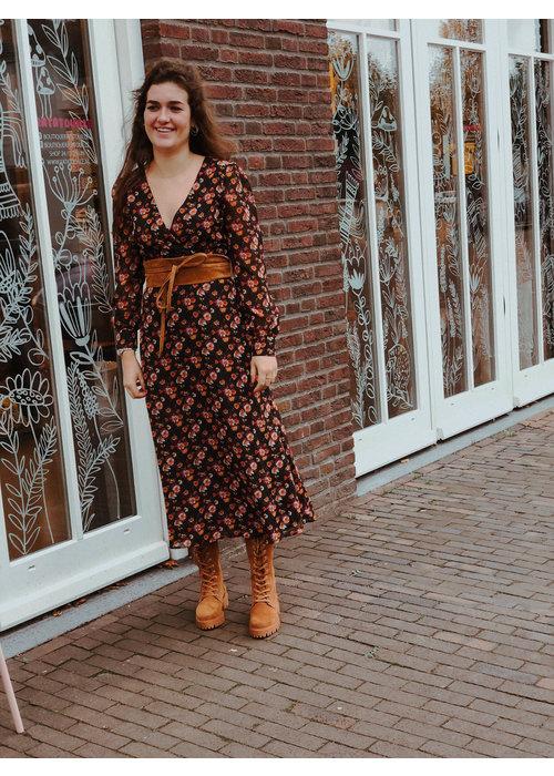 NAKD - Front Wrap Chiffon Midi Dress