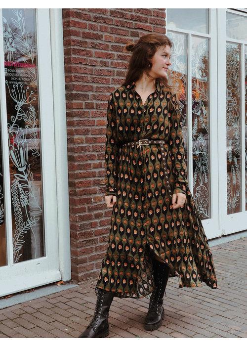 TilTil- Olivia Long  Dress Avocado