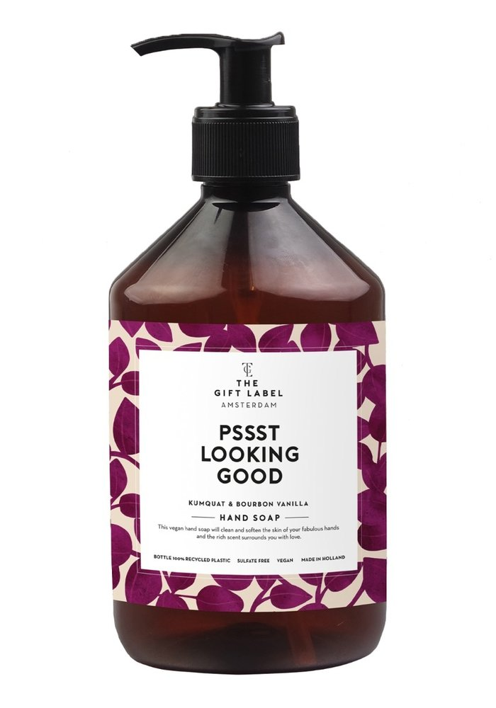 Gift Label - Handsoap psssst looking good 500ML