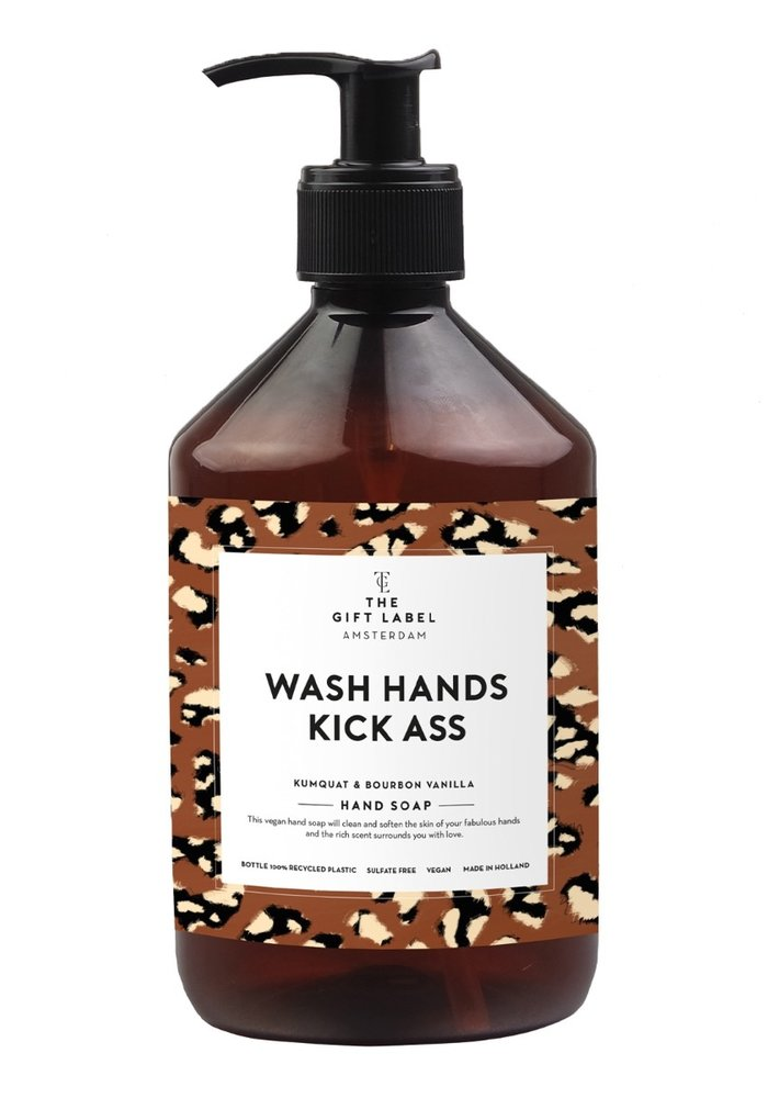 Gift Label - Handsoap Wash Hands Kick Ass 500ML