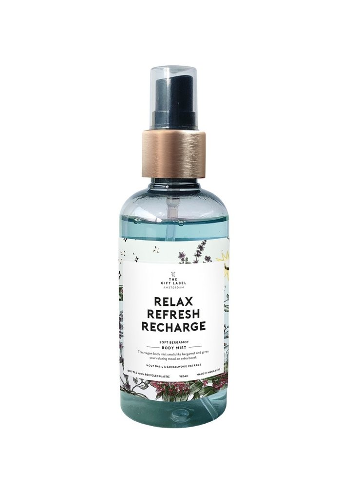 Gift Label - Body Mist Relax Refresh Recharge