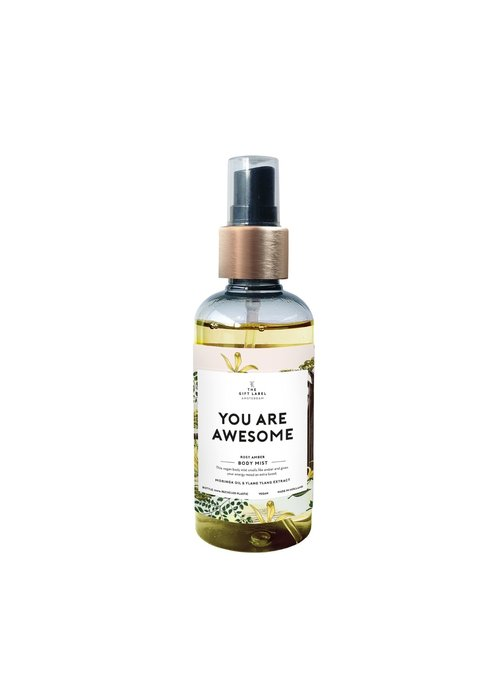 Gift Label - Body Mist You are Awesome
