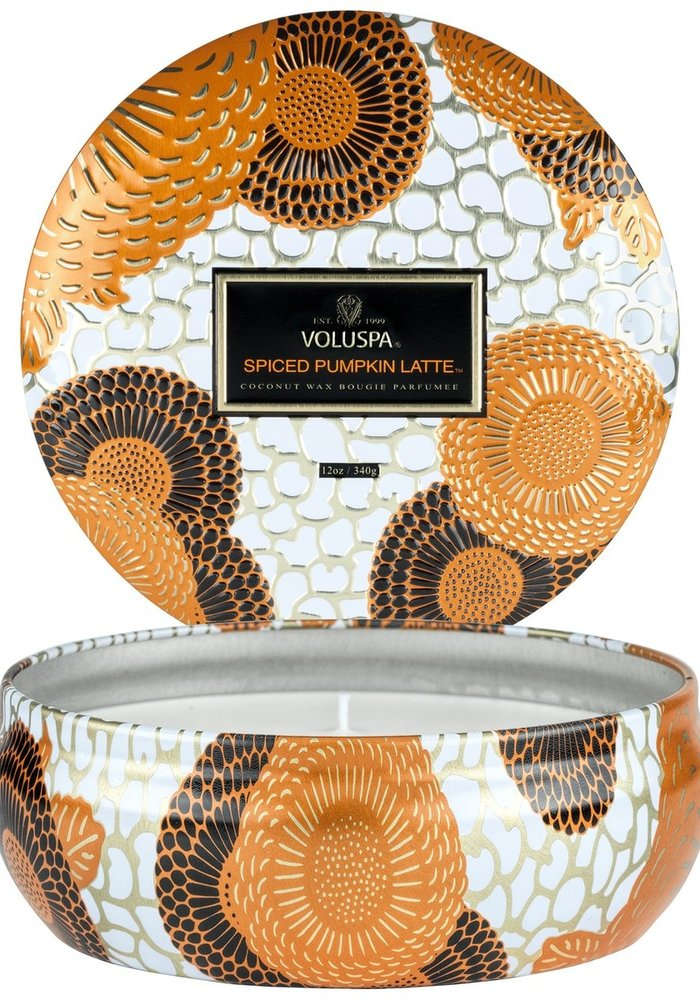 Voluspa - Spiced Pumpkin Latte 3 Wick Tin