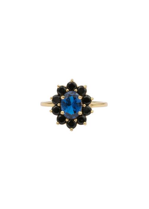 ALL THE LUCK IN THE WORLD Alltheluck - Cherie Flower Dark Blue