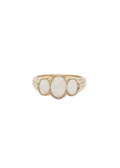 ALL THE LUCK IN THE WORLD Alltheluck - Cherie Oval White Ring