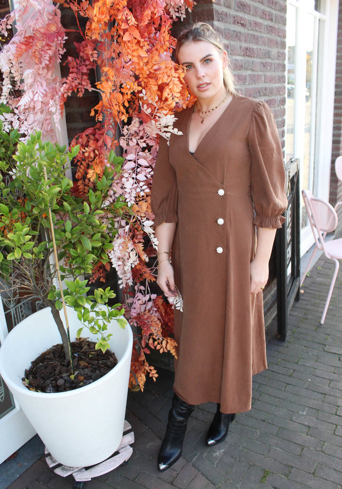 MOVES - MAMOS DRESS Tobacco Brown