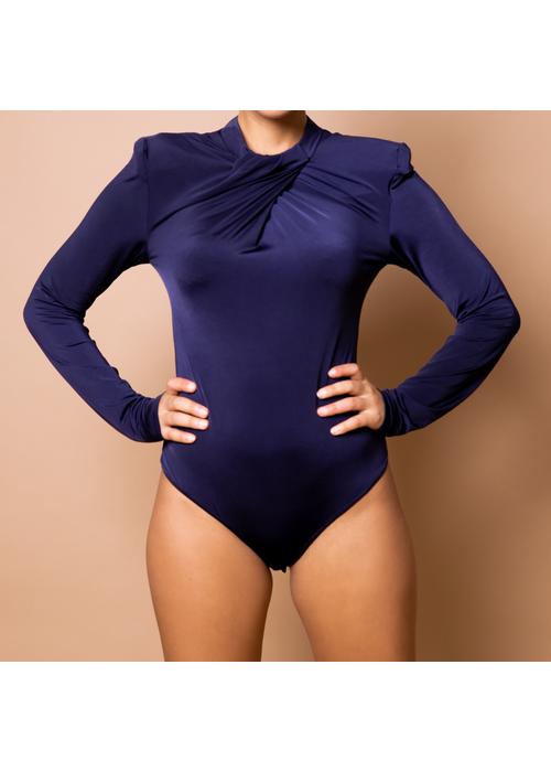 Body By Olcay Body by Olcay - Pleated Front Body Blue
