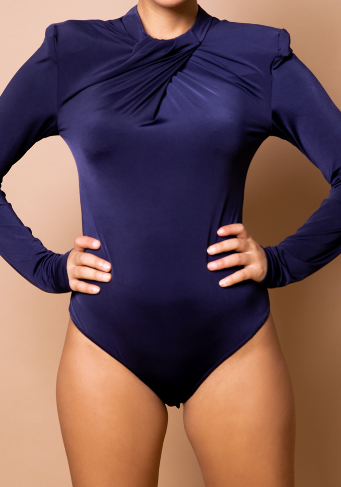 Body by Olcay - Pleated Front Body Blue