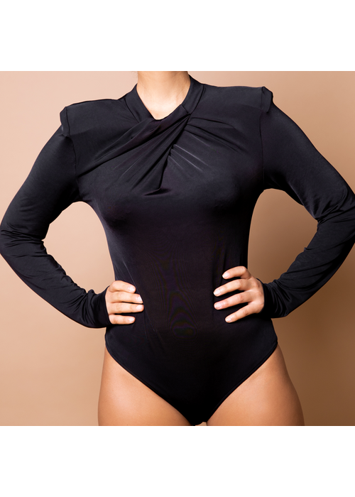Body By Olcay Body by Olcay - Pleated Front Body Black