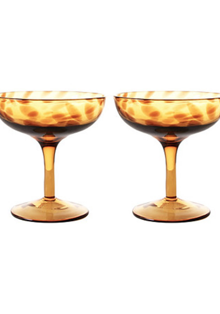 &Klevering - Coupe champagne tortoise set of 2