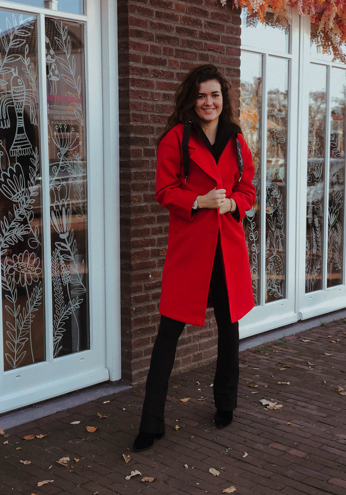 KENDALL + KYLIE - TWO LAYER COAT Red