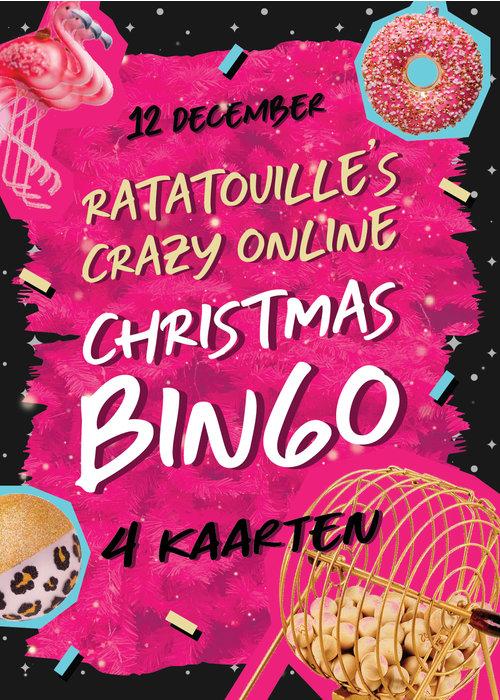 Ratatouille Bingokaarten -  Ratatouille's Crazy Online Christmas Bingo 4 kaarten