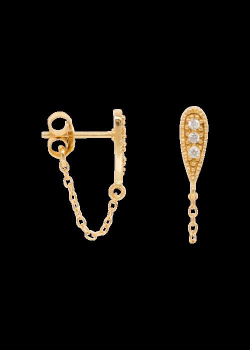 Eline Rosina Eline Rosina - Zirconia drop chain earrings