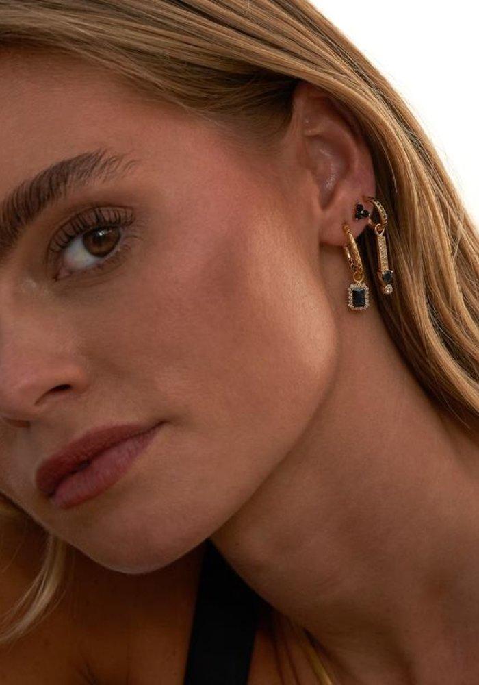 Eline Rosina - Black clover earrings