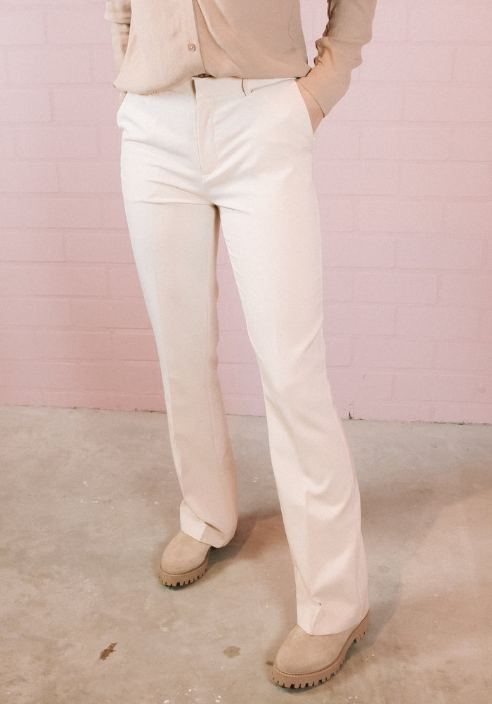 Ichi Lexi Flared Pants - Cream