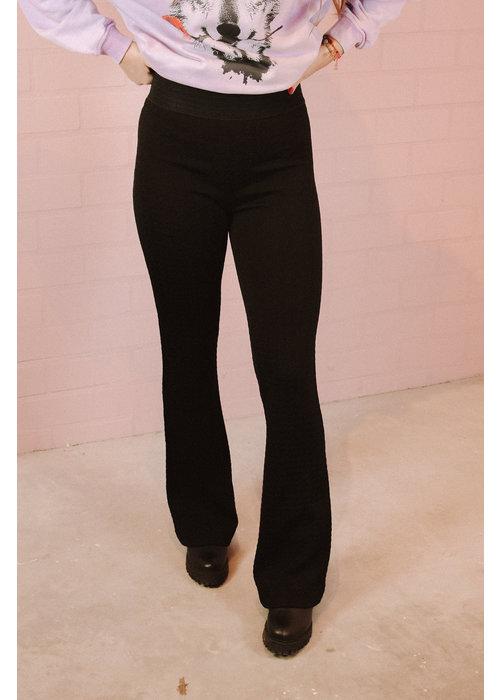 Alix Alix - ladies knitted flared pants Black