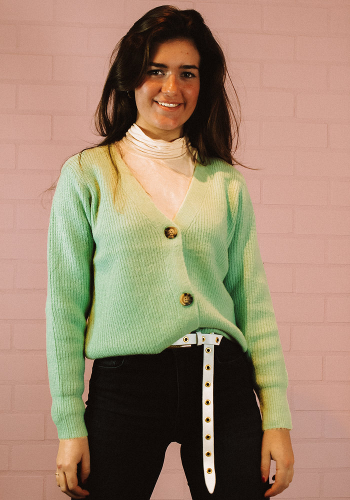 Ratatouille -  Vest Button Mint Groen
