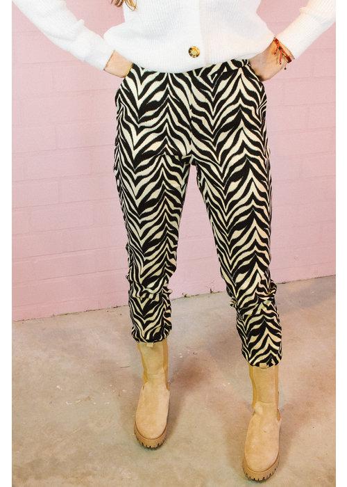 Alix Alix the Label - Ladies Woven Zebra Stretch Pants