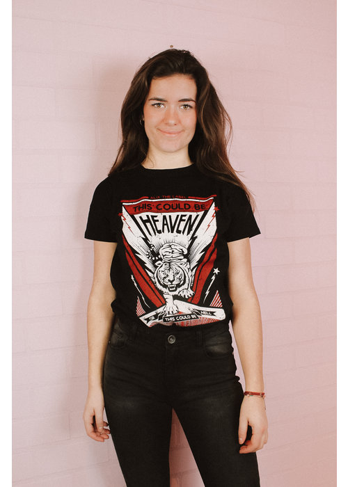 Alix Alix the Label - Ladies Knitted Tiger t-shirt Black
