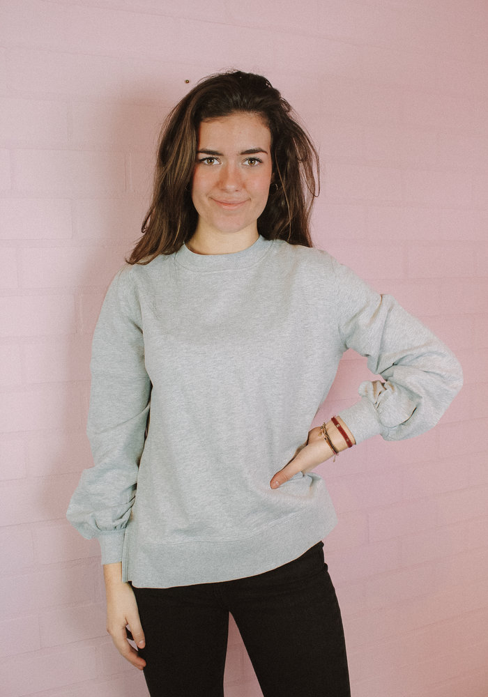 Ichi - Lorena Sweater Grey Melange